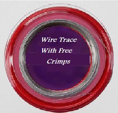 Wire fishing trace with crimps sea fishing accessories for Fishing line crimps