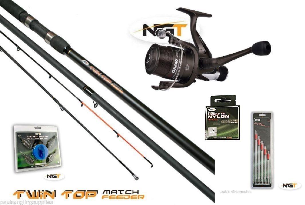 Twin fishing rod float feeder 2 in 1 shakespeare beta reel for Float fishing rods
