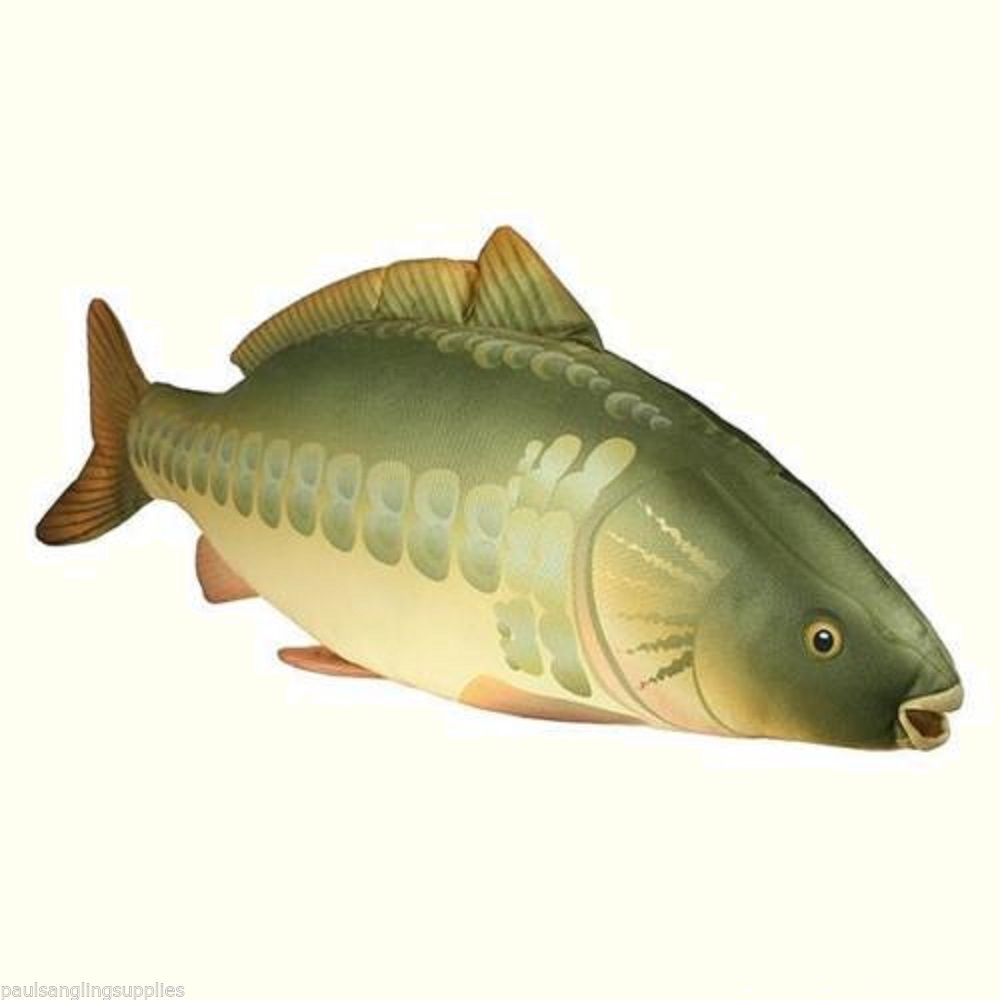 Ngt carp fishing fish shaped pillow cushion toy 70cm for Fish shaped pillow