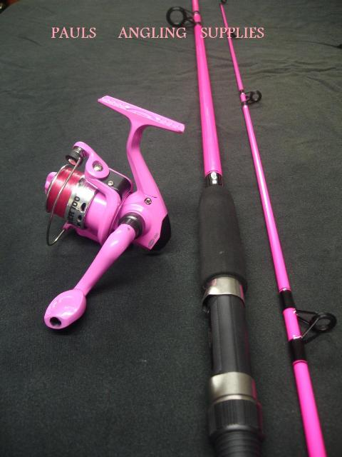 Pink fishing rod pink reel pink line fishing rods for Pink fishing rods