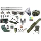 Carp Fishing Set Kit Rods Reels Chair Alarms Bait Tackle Tools
