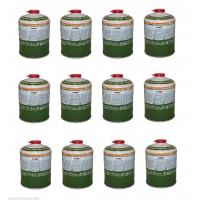 12 x 450g Camping / Fishing Gas Canisters