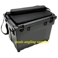 Large Fishing Seat Box Black + Cushion & Strap