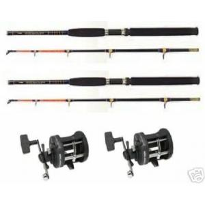 2 x Boat Rods and Reels - Sea Fishing Tackle