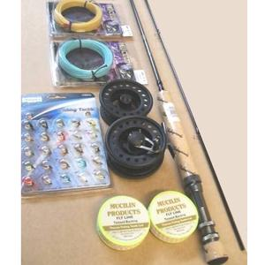 Complete omni fly fishing kit rod and reel kits combo 39 s for Fly fishing combo kit