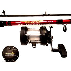 Shakespeare Firebird Boat Rod Reel + Wallet; Combo LH Wind Reel