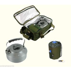 Insulated Camp Kit Bag with Kettle Gas Bag For Stove Carp Fishin