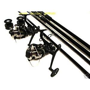 asl 2 x carp fishing rods + 2 carp fishing reels | rod and, Fishing Reels