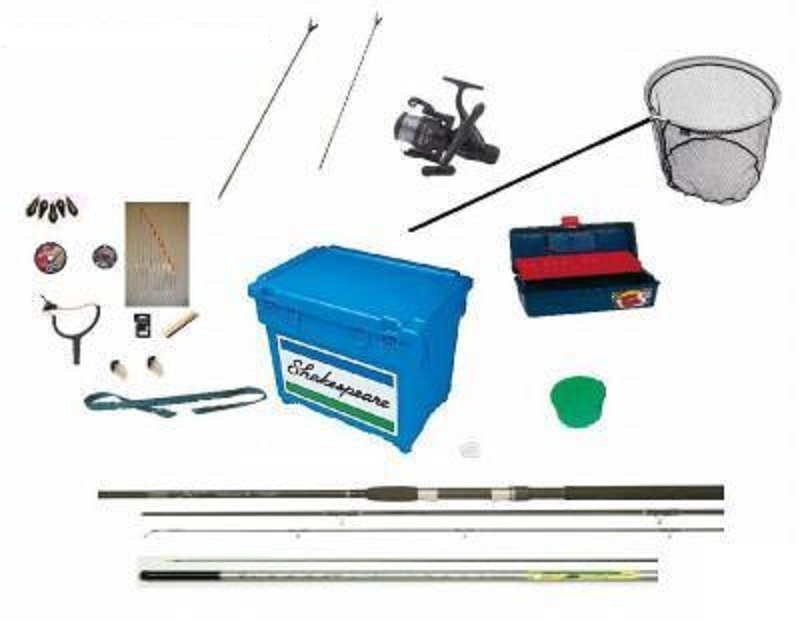 Fishing kit Rod Reel Seat Box Pole and Tackle