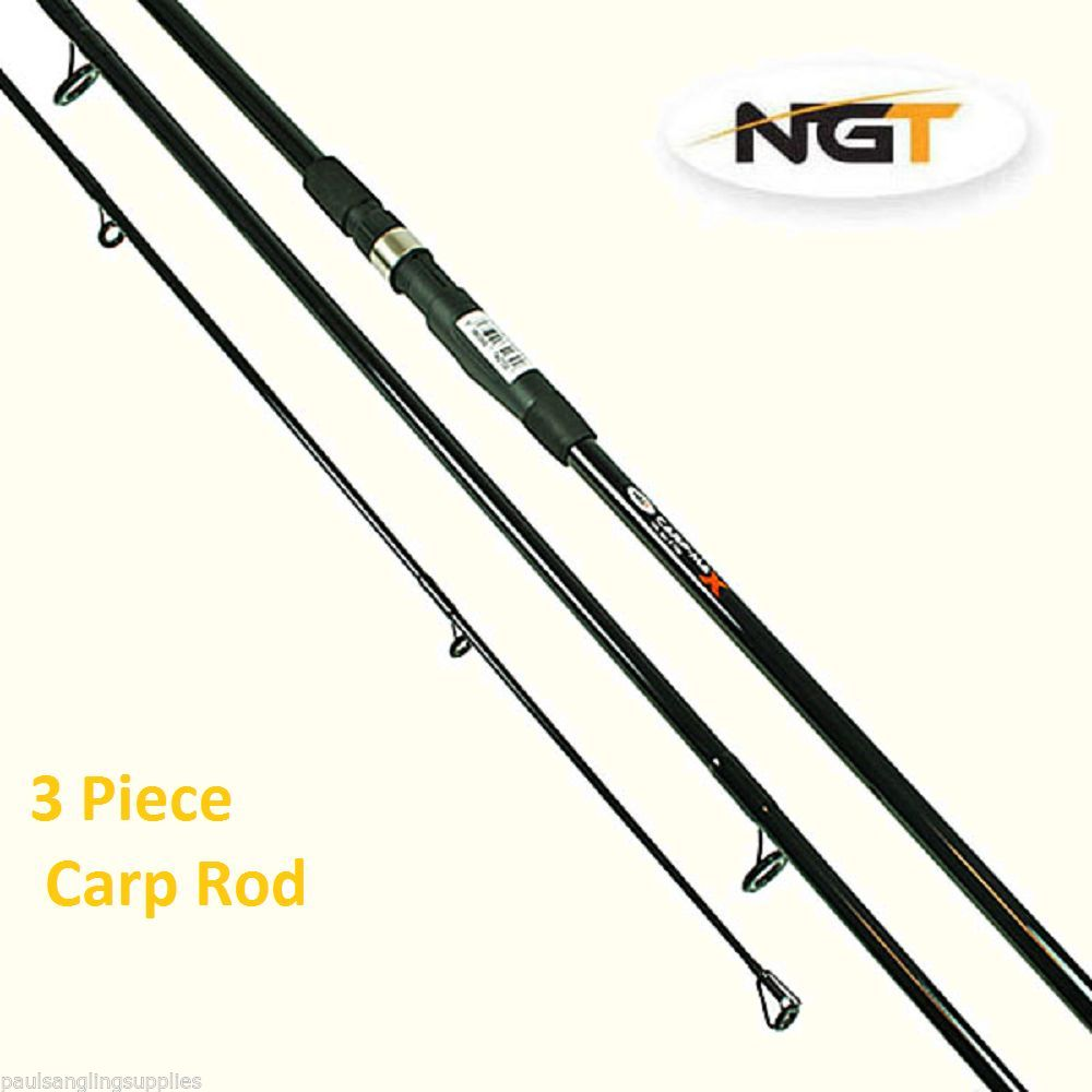 Ngt carp max carp fishing rod 3 piece lb testcurve for 3 piece fishing rod