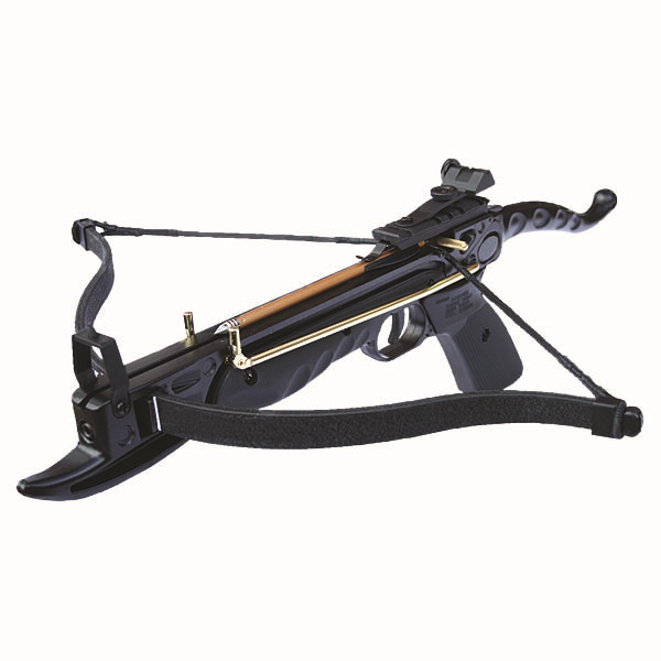 80lb aluminium 39 cyclone 39 anglo arms self cocking crossbow for Fishing crossbow pistol