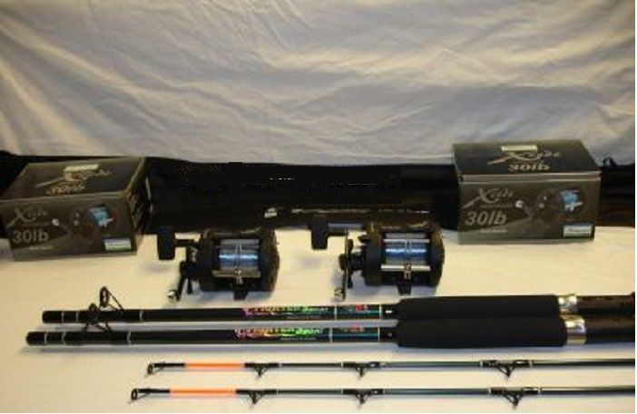 2 Boat Rods and Multiplier Reels