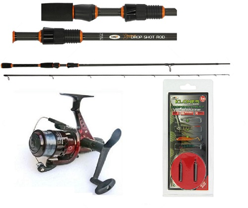 NGT Dynamic Drop Shot Carbon Fishing Rod , Reel & line with Drop