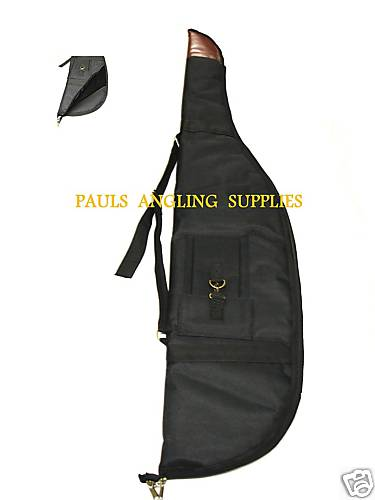 Gun Bag Slip for Rifle with Scope in Black with Liner