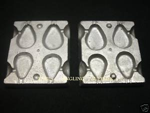 4 In 1 Flat Pear Lead Weight Mould ASL