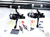 Carp Fishing Kit 2 Rod Set Up
