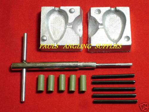 Carp Fishing Inline lead Mould Kit Flat Pear