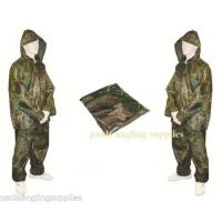 Camo Fishing Hunting Suit Waterproof Jacket Trouser Set Rainsuit