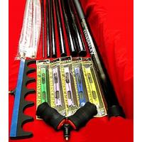 Complete pole fishing kit ready to fish