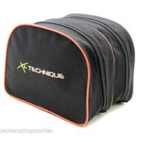 XL Technique Double Full Length Zip Fishing Reel Case Black / Re