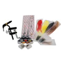 Lineaeffe Fly Fishing Tying Kit Inc Feathers Floss Tinsel Trout