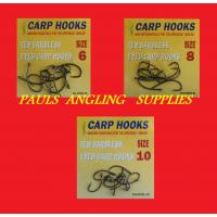 30 Assorted Carp Fishing Barbless Hooks Sizes 6,8,10