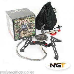 NGT Fishing Gas Stove Compact, High Output for bivvy shelter ten