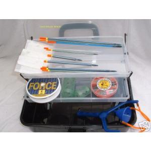 Loaded tackle box with tackle