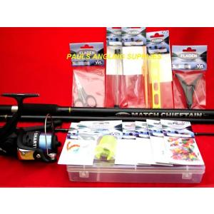 Fladen Match / Float Fishing Rod + Reel + Tackle